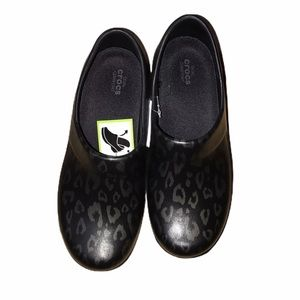 Crocs Felicity Graphic Black and Gray - Size 8